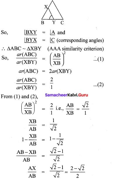 Samacheer Kalvi 10th Maths Chapter 4 Geometry Additional Questions 3