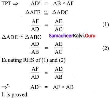 Samacheer Kalvi 10th Maths Practical Geometry
