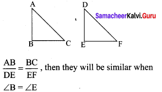 Samacheer Kalvi 10th Maths Chapter 4 Geometry Ex 4.5 1