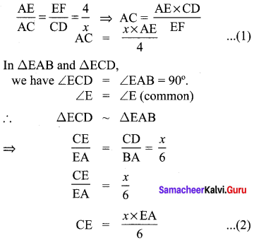 Samacheer Kalvi 10th Maths Chapter 4 Geometry Unit Exercise 4 3