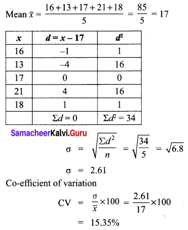 Samacheer Kalvi 10th Maths Solutions Chapter 8 Statistics and Probability Additional Questions 93