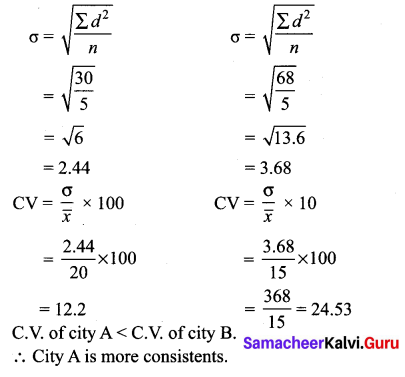 Samacheer Kalvi 10th Maths Solutions Chapter 8 Statistics and Probability Unit Exercise 8 71