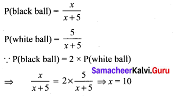 Samacheer Kalvi 10th Maths Solutions Chapter 8 Statistics and Probability Unit Exercise 8 75