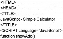 Plus Two Computer Science Chapter Wise Previous Questions Chapter 6 Client-Side Scripting Using JavaScript 21