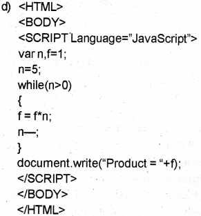 Plus Two Computer Science Chapter Wise Previous Questions Chapter 6 Client-Side Scripting Using JavaScript 27