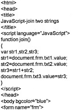 Plus Two Computer Science Chapter Wise Previous Questions Chapter 6 Client-Side Scripting Using JavaScript 7